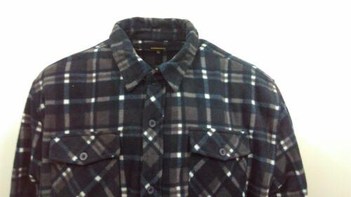 Mens New Workload Winter Quilted Padded Fleece Buffalo Shirt Jacket Outwear Tops