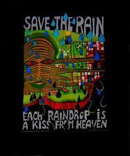 Hundertwasser Save the rain Poster Kunstdruck Bild 50x40 cm Kostenloser Versand
