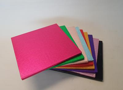 """Soleggiato Torta Drum Pannelli """"square"""" 12mm Spessore-top Quality-molti Colori Disponibili-"""