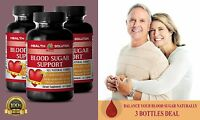 Blood Glucose Meter - Blood Sugar Support - Dietary Supplement 3 Bottles