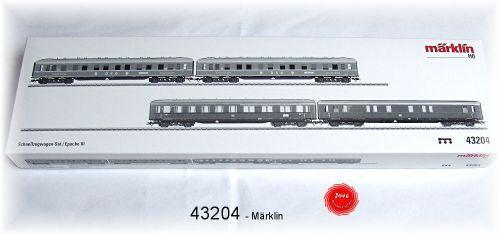 Märklin 43204 schnellzugwagen-set  de la DB + dsg 4 piezas  neu en OVP