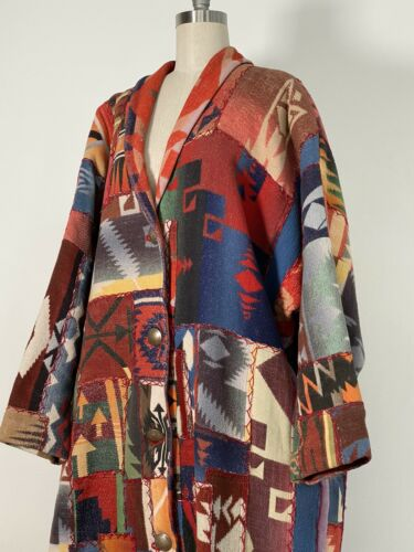 RARE vintage Wool Camp Trade blanket Patchwork COA