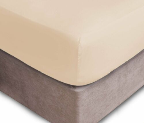 """10/"""" DEEP FITTED SHEET WITH ELASTIC BED SHEETS FOR MATTRESS SINGLE DOUBLE KING"""