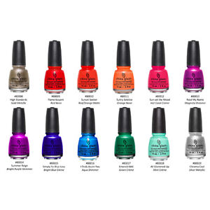 Image Is Loading China Glaze Nail Lacquer Summer Reign Collection Full