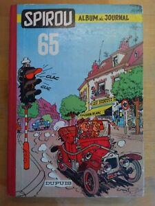 Le-Journal-de-Spirou-Album-N-65-reliure-editeur-Dupuis-1958