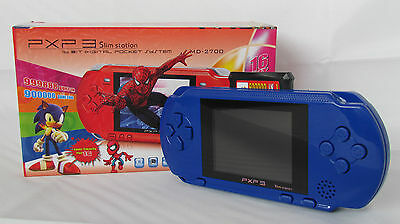 BLUE PXP 3 PVP 16 BIT P2P 1GB VIDEO GAME CONSOLE HANDHELD 150+ GAMES XMAS GIFT