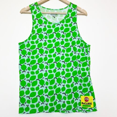 Bacardi Lime Green Lime Tank Women's Size Medium