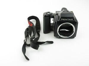 Pentax-645-SLR-Spiegelreflexkamera-4-5x6-mit-Gurt-with-strap
