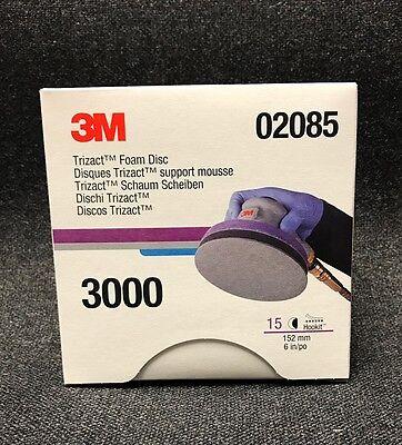 3M 02085 Trizact Hookit Foam Discs, 6 inch, 3000 grit,(3 Sheets) 3M-02085 | eBay