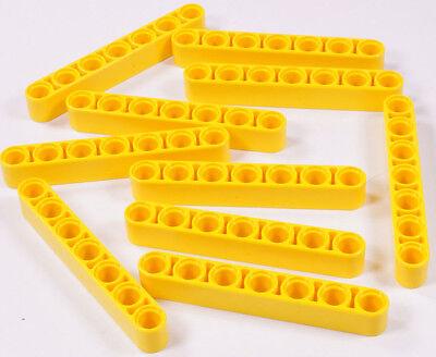 Lego Technik - 10 X Liftarm 1x7 Gelb Dick / Yellow Liftarm Thick / 32524 Neuware Ni Demasiado Duro Ni Demasiado Suave