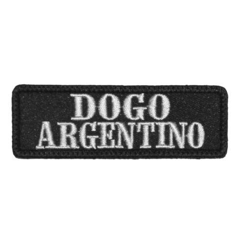 Wechselbarer Patch Aufnäher Klett Dogo Argentino Hunde Rasse Dogs Haustier