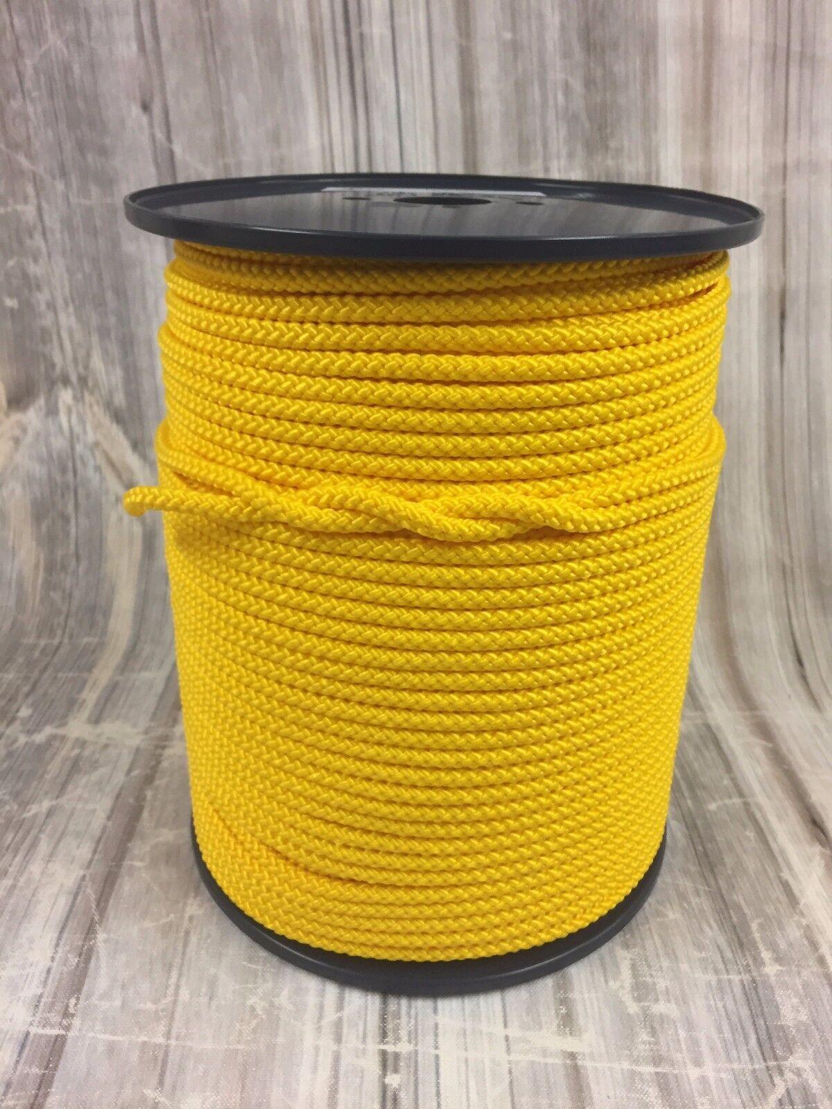 12mm gelb POLYPROPYLEN SEIL 50mts geflochten Poly Schnur Line Segeln Stiefelfahren