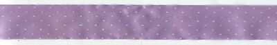 """1&3/8"""" LAVENDER DOTTED SATIN RIBBON 21 YARDS GIFTS SEWING CRAFT EMBELLISHMENT"""