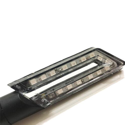 2X Motorcycle LED Blade Turn Signal Electric Car Turning Light Indicator Light H