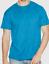 MEN-039-S-SIZE-M-COTTON-BLEND-NEON-BLUE-X-TEMP-SHORT-SLEEVE-CREW-NECK-T-SHIRT-HANE thumbnail 1