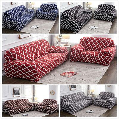 1 2 3 4 Seat Stretch Elastic Sofa Cover Protector For Fabric Sofa