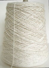 NATURAL 4/2 Cotton unmercerized Cone Yarn Weave Knit Crochet Dye 1680 ypp 1 lb.