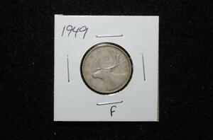 1949 - 25 CENTS - CANADA -  (f) See pictures for condition