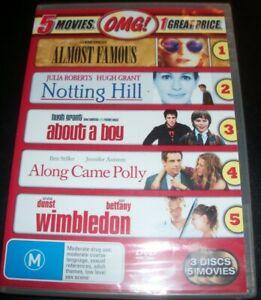 Almost-Famous-Notting-Hill-Wimbledon-About-A-Boy-Along-Came-Aust-Reg-4-DVD-NEW