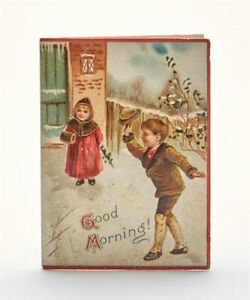 ANTIQUE-FOLDING-EMBOSSED-CHRISTMAS-CARD-C-1900