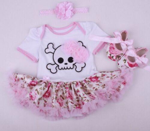 "22/"" Reborn Doll Clothes Dress Newborn Baby Headdress Shoes Christmas Gift"