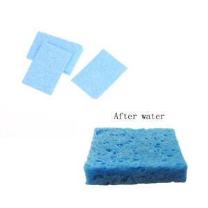 10pcs 6cm*6cm Soldering Iron Solder Tip Welding Cleaning Blue Sponge Pads Too Gh