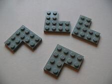 Lego 4 coins plat gris clair set 7470 6411 6543 2152 / 4 old light gray corner