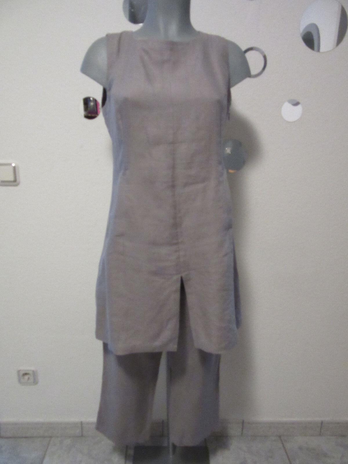 Enna,Waschbär der Umweltversand,100%Leinen, Tunika + Hose,Farbe Grau,NP