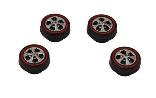 4 Premier Brightvision Redline Wheels – 4 Small Hong Kong Bearing Style