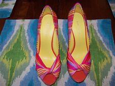 Nine West Shoes, Chillpill Platform Wedge Sandals - Beach Stripe Pink Multi 6M