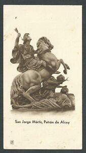 Estampa-antigua-de-San-Jorge-andachtsbild-santino-holy-card-santini