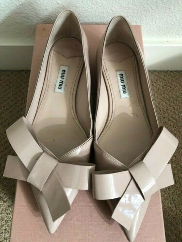 Miu Miu Bow Patent Leather Flats