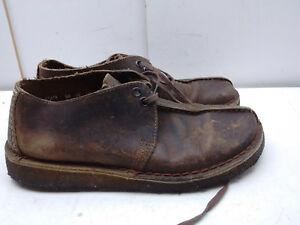 Clarks Originals Marrón Engrasado Cuero Crepe Desierto Bota