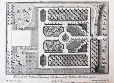 1717 Salzburg Fronburg Frohnburg Garten Kupferstich-Gesamtansicht Corvinus Disel