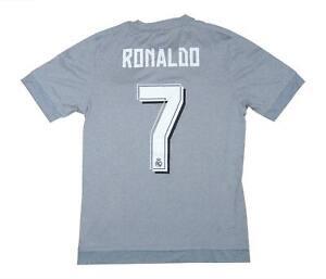 REAL MADRID 2015-16 ORIGINALE AWAY SHIRT RONALDO #7 (eccellente) S Soccer Jersey