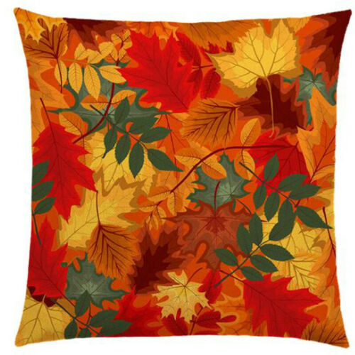 Thanksgiving Pumpkin Print Cushion Cover Throw Pillow Case Sofa Home Fall Decor