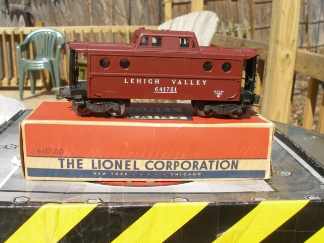 Lionel Postwar Tuscan 6417-50 Lehigh Valley Porthole Caboose