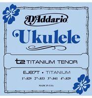 D'Addario Daddario EJ87T Titanium Tenor Ukulele (19954971748)