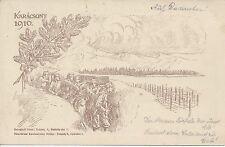 Feldpost 1. WK: K.u.K. Feldjägerbataillon Nr. 25 Feldk. auf AK. Karacsony 1916