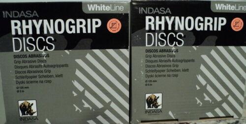 Two Pack Indasa  5 inch Solid 220 Grit Hook /& Loop Sanding Discs  50 //Box = 100