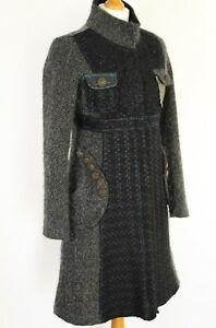 DESIGUAL-Ladies-STUNNING-Grey-COAT-Jacket-Size-Spanish-36-UK-8
