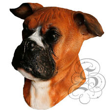 Latex BOXER - Dog House Pet Head Realistic Party Mask - Halloween Hen Stag Props