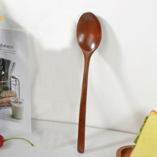 Wooden Spoon Fork Bamboo Kitchen Cooking Utensil Tools Soup-Teaspoon Tableware