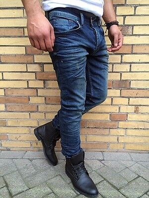 2019 Ultimo Disegno Be The Trend Blue Vintage Used Look Jeans Stonedwash By Denim Repubblica