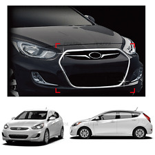 Chrome Radiator Grill Garnish Molding for HYUNDAI Accent 2011-2017