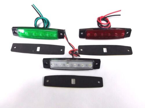 3 BBT Marine Grade 12 volt Waterproof LED Navigation Lights