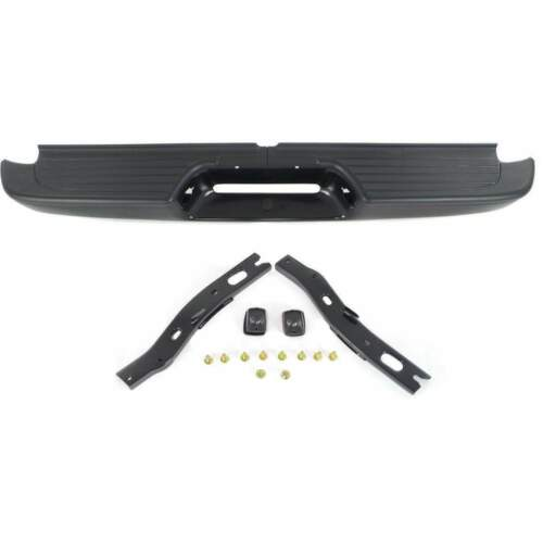 Rear Painted Black Steel Step Bumper Assembly With Bracket Fits Tacoma TO1102214