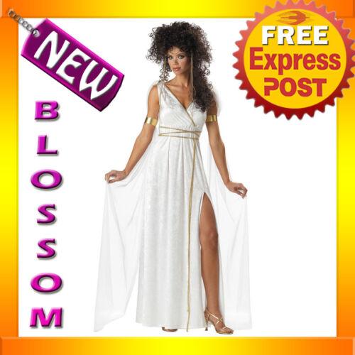 C169 Athenian Goddess Greek Medieval Fancy Dress Womens Adult Costume S M L XL