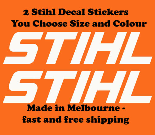 Stihl Set of 2 Vinyl Cut Sticker Decals Chainsaw  Line Trimmer Any Size Colour