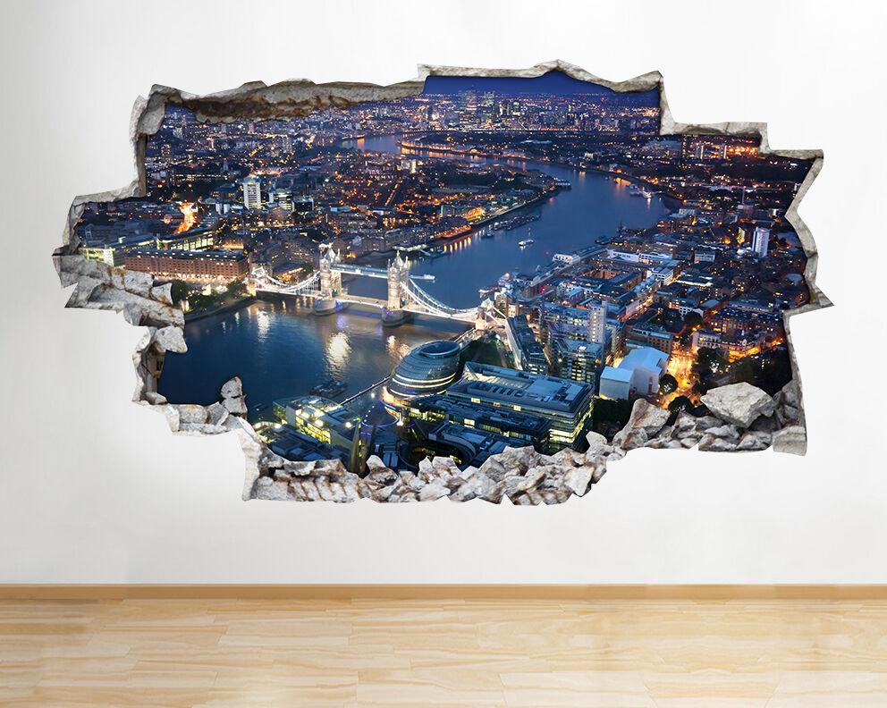 ADESIVI MURALI PAESAGGIO LONDON CITY VISTA BELLISSIMA serata Decalcomania Decalcomania Decalcomania Arte 3D f7e40b